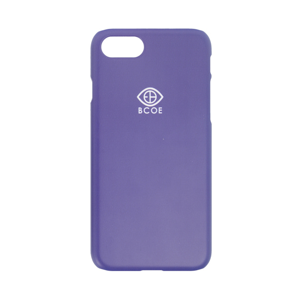 LOGO SIMPLE PHONE CASE purple 후원 폰케이스 비코 BCOE