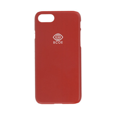LOGO SIMPLE PHONE CASE red 후원 폰케이스 비코 BCOE