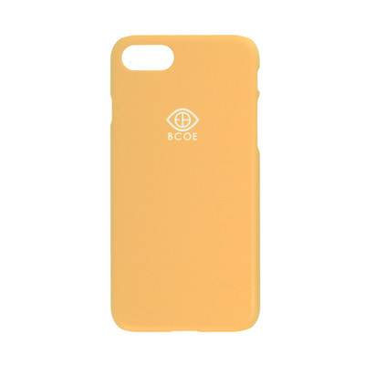 LOGO SIMPLE PHONE CASE yellow 후원 폰케이스 비코 BCOE